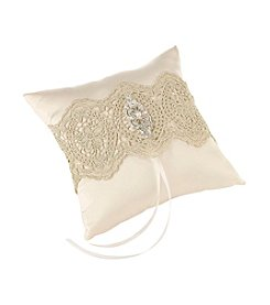 Lillian Rose® Gold Lace Ring Pillow
