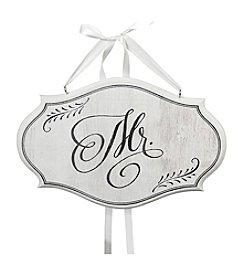 Lillian Rose® White Mr. Oval Sign