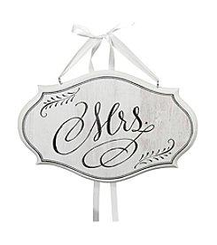 Lillian Rose® White Mrs. Oval Sign