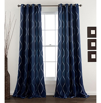 Lush Decor Swirl Room Darkening Window Curtain