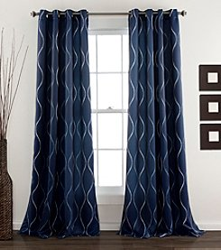 Lush Decor Swirl Room Darkening Window Curtain