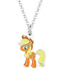 My Little Pony Silver Plated Girls' Applejack Pendant Necklace
