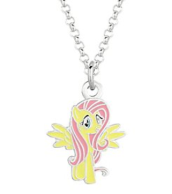 My Little Pony Silver Plated Girls' Fluttershy Pendant Necklace