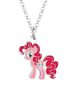 My Little Pony Silver Plated Girls' Pinkie Pie Pendant Necklace