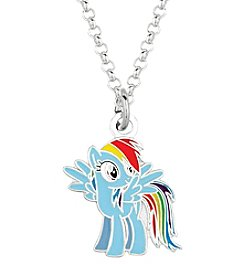 My Little Pony Silver Plated Girls' Rainbow Dash Pendant Necklace
