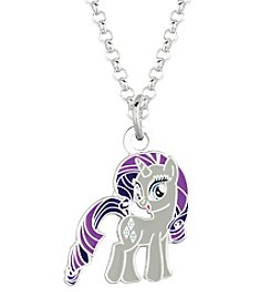 My Little Pony Silver Plated Girls' Rarity Pendant Necklace