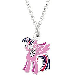 My Little Pony Silver Plated Girls' Twilight Sparkle Pendant Necklace