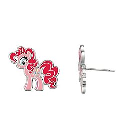 My Little Pony Silver Plated Girls' Pinkie Pie Stud Earrings