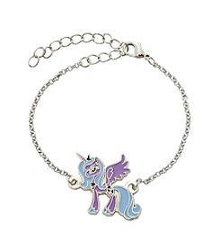 My Little Pony Silver Plated Girls' Luna Purple Unicorn Chain Bracelet