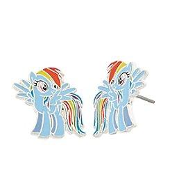My Little Pony Silver Plated Girls' Rainbow Dash Stud Earrings