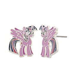 My Little Pony Silver Plated Girls' Twilight Sparkle Stud Earrings