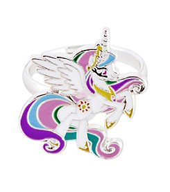 My Little Pony Silver Plated Girls' Celestia White Unicorn Adjustable Ring