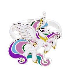 My Little Pony Silver Plated Girls' Celestia White Unicorn Adjustable Ring