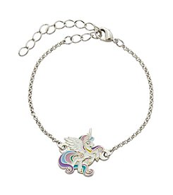 My Little Pony Silver Plated Girls' Celestia White Unicorn Chain Bracelet
