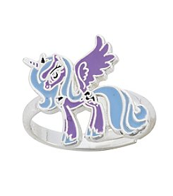 My Little Pony Silver Plated Girls' Luna Purple Unicorn Adjustable Ring
