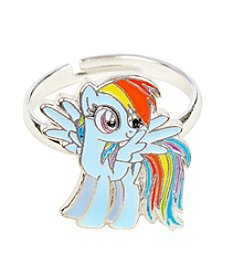 My Little Pony Silver Plated Girls' Rainbow Dash Adjustable Ring