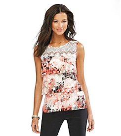 AGB Floral Lace Tank