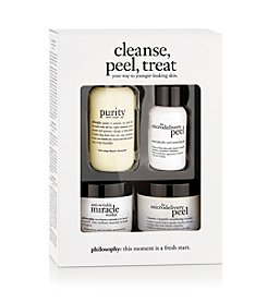 philosophy® Cleanse, Peel, Treat Trial Kit