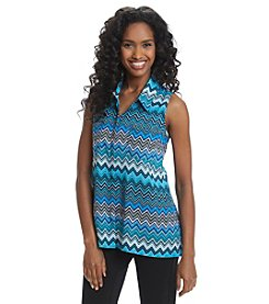 Notations® Chevron Print Sleeveless Blouse