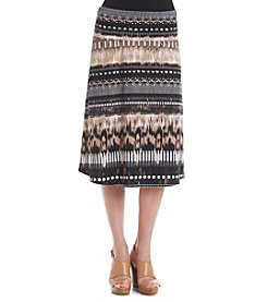 Notations® Abstract Print Skirt