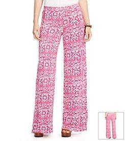 Lauren Ralph Lauren Plus Size Ikat-Print Wide-Leg Pants