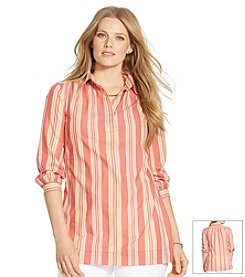 Lauren Ralph Lauren® Plus Size Striped Cotton Tunic