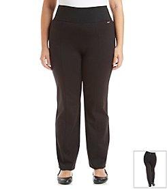 Calvin Klein Plus Size Wide Waist Straight Leg Pant