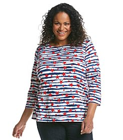 Jones New York Sport® Plus Size Star Popover Top