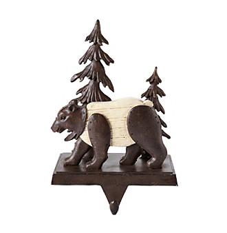LivingQuarters Bear Stocking Holder plus size,  plus size fashion plus size appare