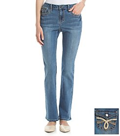 Earl Jean® Loop Stitch Flap Back Pocket Bootcut Jean