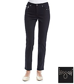 Earl Jean® Loop Bling Back Skinny Jeans