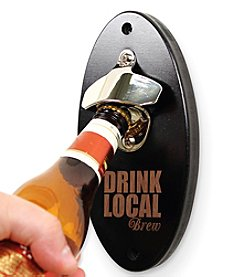 Cathy's Concepts Drink Local Black Wall Mounted Bottle Opener