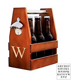 Cathy's Concepts Personalized Wooden Craft Beer Carrier with Opener