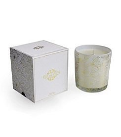 Isaac Mizrahi® White Tea Floral Filled Candle