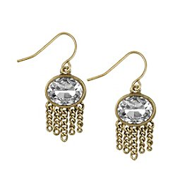 The Sak® Goldtone Oval Stone Fringe Drop Earrings