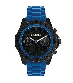 Unlisted by Kenneth Cole® Men's Blue Silicon Strap Watch