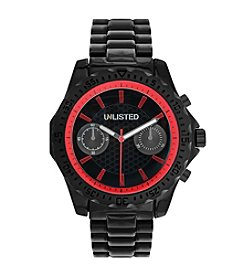Unlisted by Kenneth Cole® Men's Black Bracelet Watch