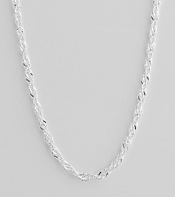 Sterling Silver Singapore Chain Necklace