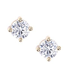 Lonna & Lilly Goldtone Cubic Zirconia Small Stud Earrings