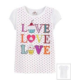 Beautees Girls' 4-6X Cupcake Is Love Tee