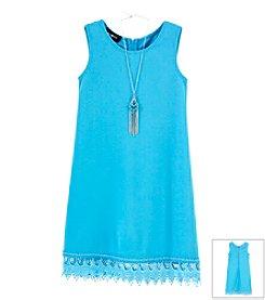 Amy Byer® Girls' 7-16 Crochet Bottom Dress
