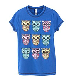 Beautees Girls' 7-16 Short Sleeve Owl Tee