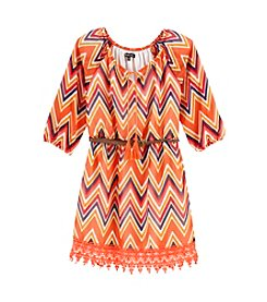 Sequin Hearts® Girls' 7-16 Crochet Hem Chevron Dress
