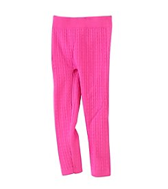 Squeeze® Girls' Cable Knit Fleece Leggings