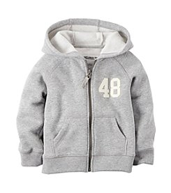 Carter's® Boys' 2T-7 Full Zip Heather Hoodie