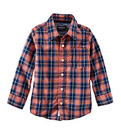 OshKosh B'Gosh® Boys' 2T-7 Plaid Button Up Top