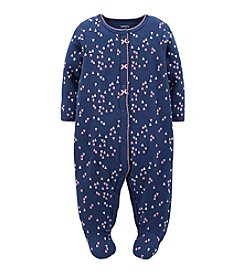 Carter's® Baby Girls' 3-24 Month Heart Pattern Interlock Footie