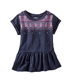OshKosh B'Gosh® Girls' 2T-4T Embroidered Knit Top