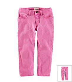OshKosh B'Gosh® Girls' 2T-7 Twill Cropped Pants
