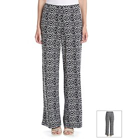 AGB® Printed Wide Leg Pants